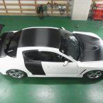 カーラッピング マツダ-RX8-ボンネット、グリル、ルーフ、トランク、リアドア