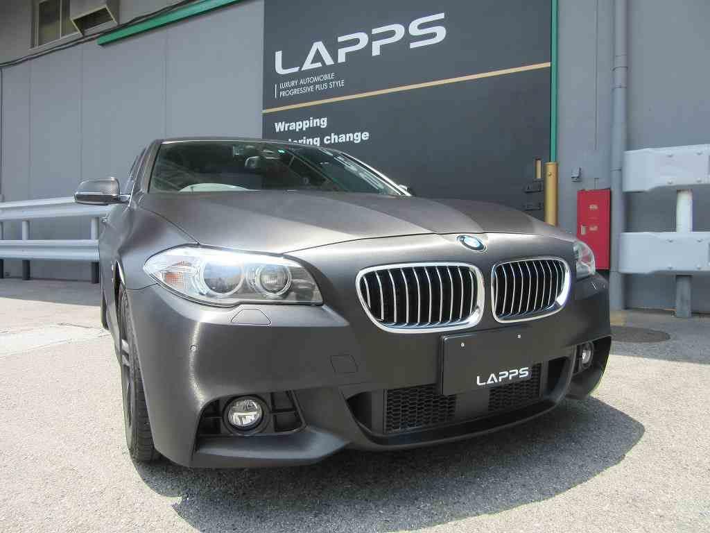 BMWを3M 1080-BR212 ブラッシュドブラックフイルムでラッピング