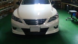トヨタ-マークX ウイング、ディフューザー、グリルの施工 (2)