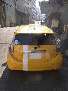 トヨタ-アクア ストライプを施工