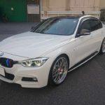 カーラッピング BMW320i ルーフラッピング