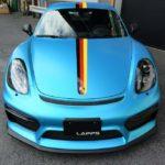 カーラッピング ポルシェ ケイマン GT4 フルラッピング【LAPPS】