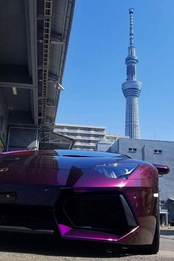 1080-GP278 グロスフリップディープスペース クレイジーカーボン【朝_屋外】