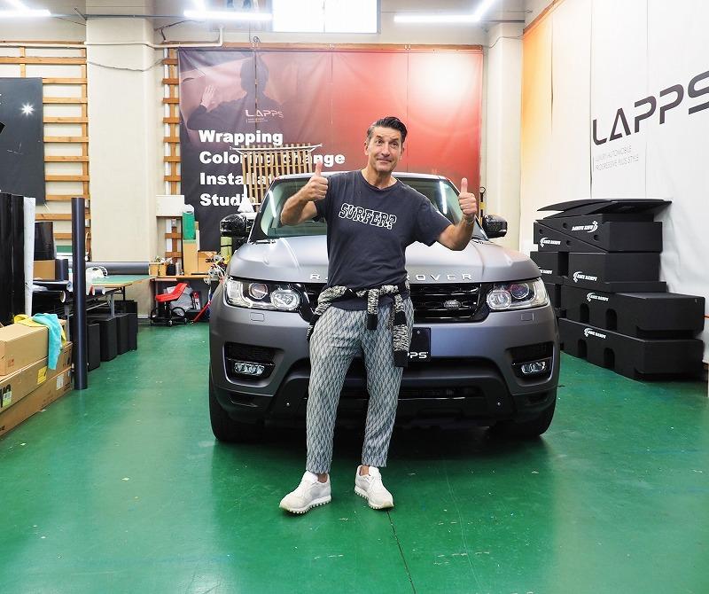 LAPPS&パンツェッタ・ジローラモ氏 コラボラッピング - カーラッピング 東京 車ラッピングのLAPPS